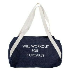 """Private Party Gym Bag """"WILL WORKOUT FOR CUPCAKES"""""""